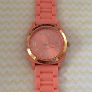 Anthropologie Pink and Gold Watch
